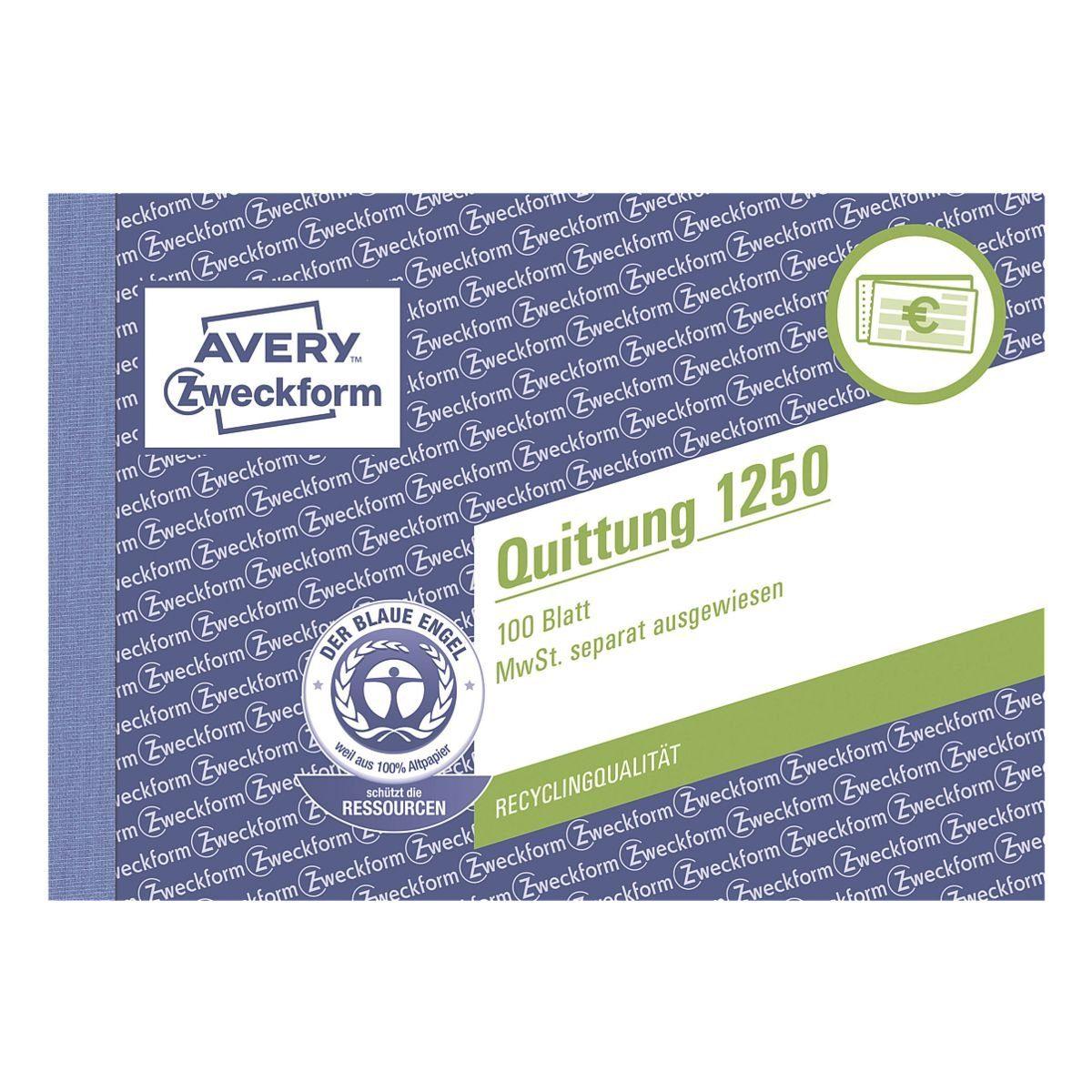 Avery Zweckform Formularbuch »Quittung, MwSt. separat mit Netto-Brutto...
