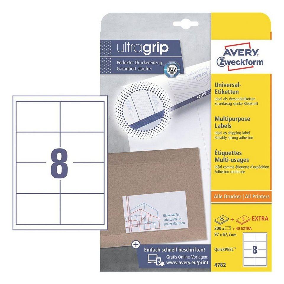 Avery Zweckform 200er-Pack Universal Klebeetiketten »4782«