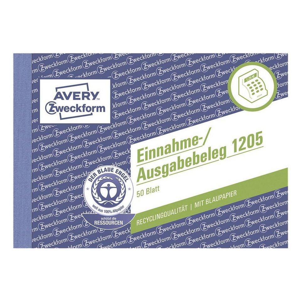 Avery Zweckform Formularbuch »Einnahme-/Ausgabebeleg mit Dokumentendruck...