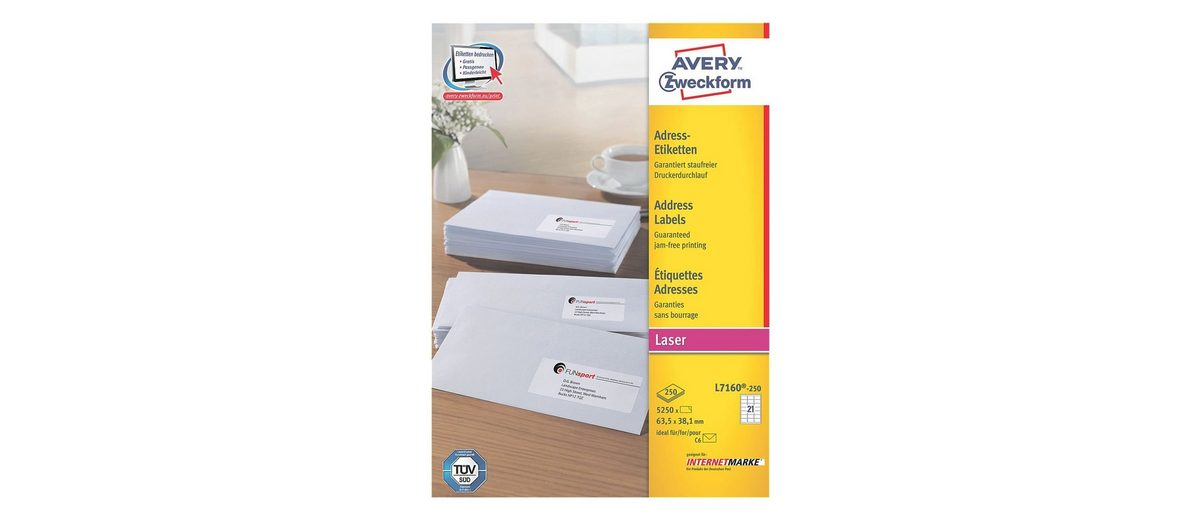 Avery Zweckform 5250er-Pack Adressaufkleber »L7160-250«