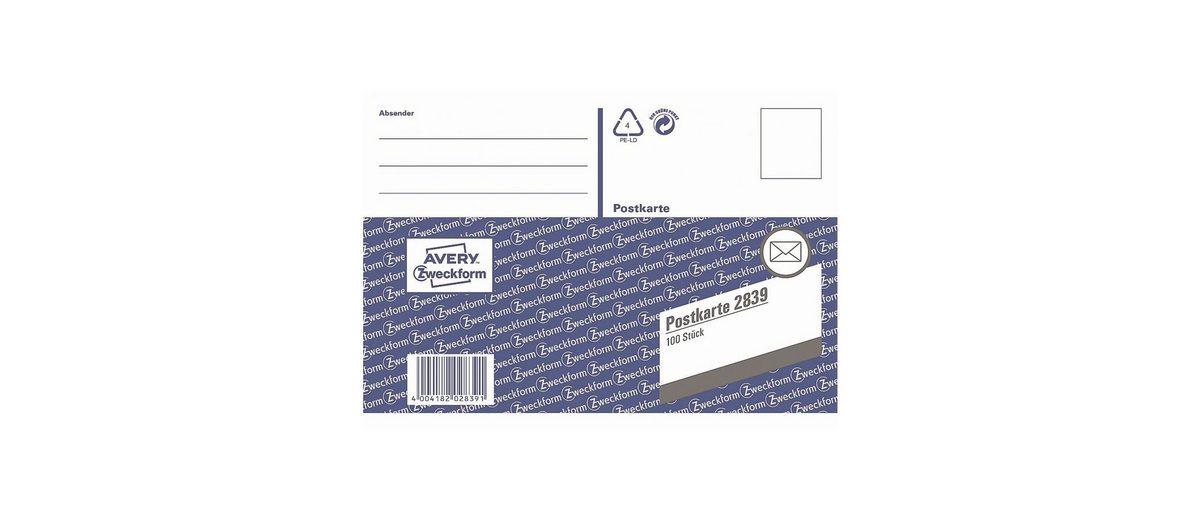 Avery Zweckform Formularbuch »Postkarte«