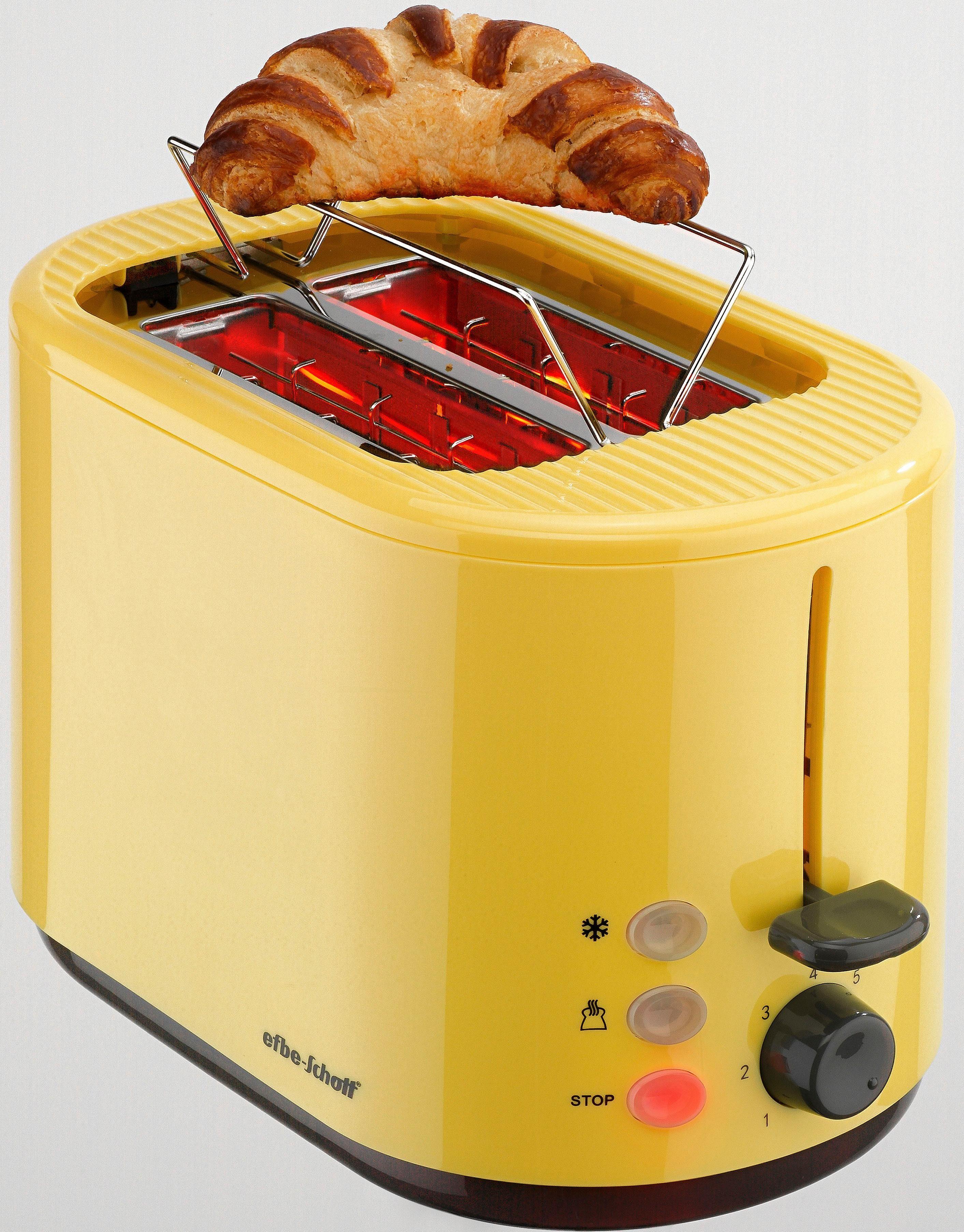 Efbe-Schott Toaster SC TO 1080.1 GLB, 2 kurze Schlitze, für 2 Scheiben, 800 W