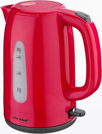 Efbe-Schott Wasserkocher SC WK 1080.1 ROT, 1,7 l, 2200 W