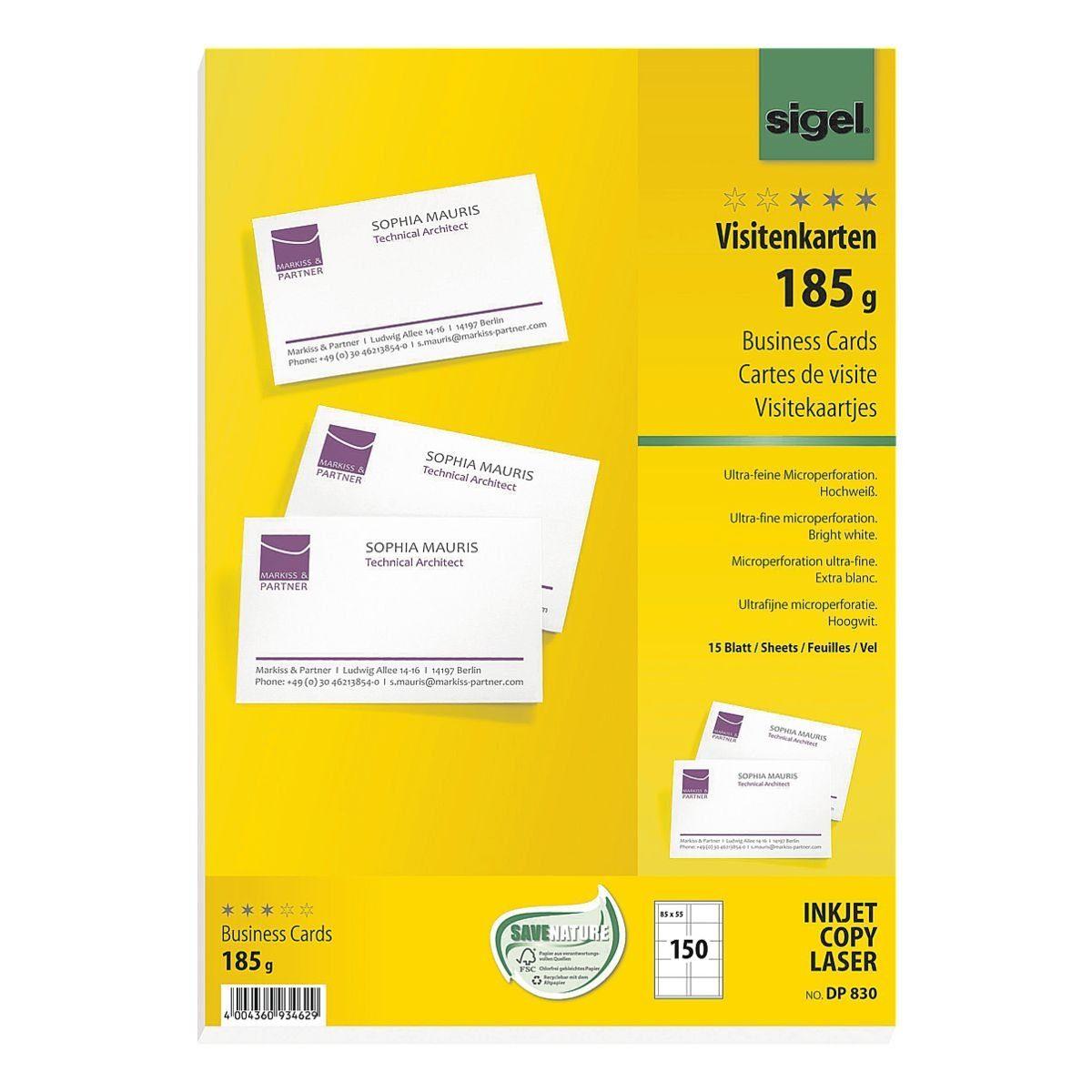 Sigel Visitenkarten DP830
