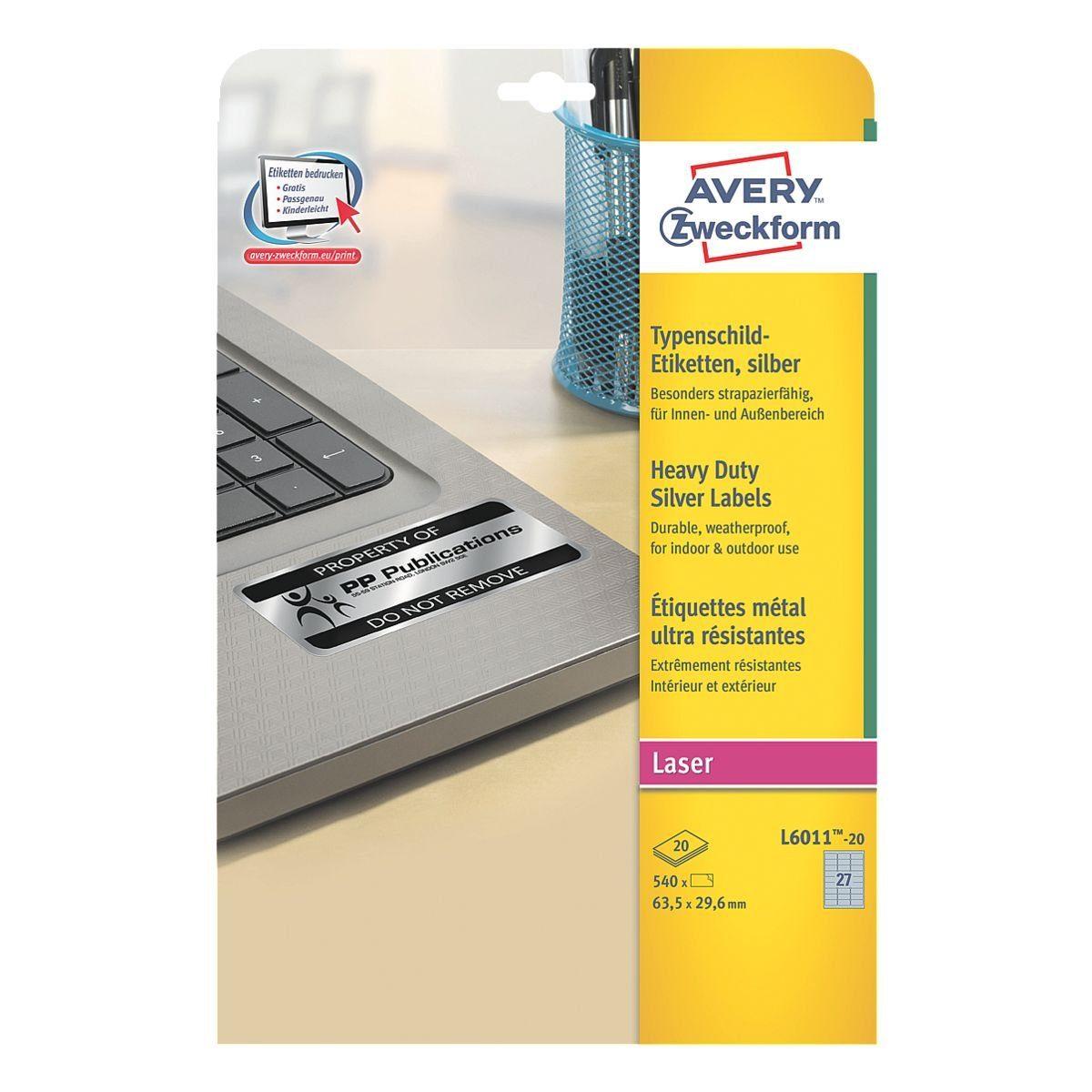 Avery Zweckform 540er-Pack Typenschild-Etiketten »L6011-20«