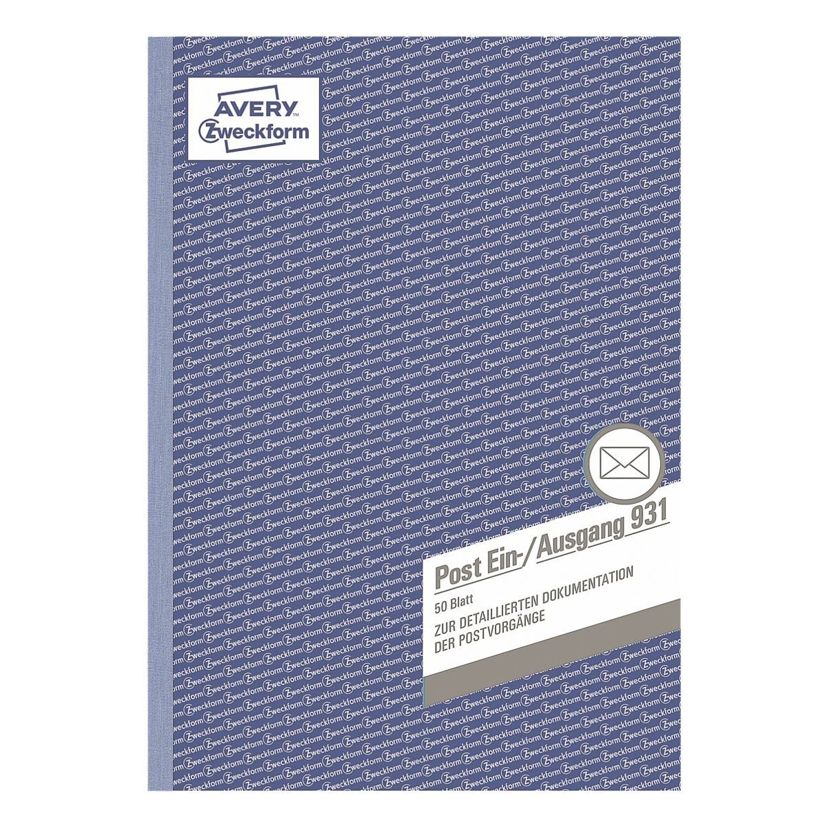 Avery Zweckform Formularbuch »Post-Ein-/Ausgangsbuch«