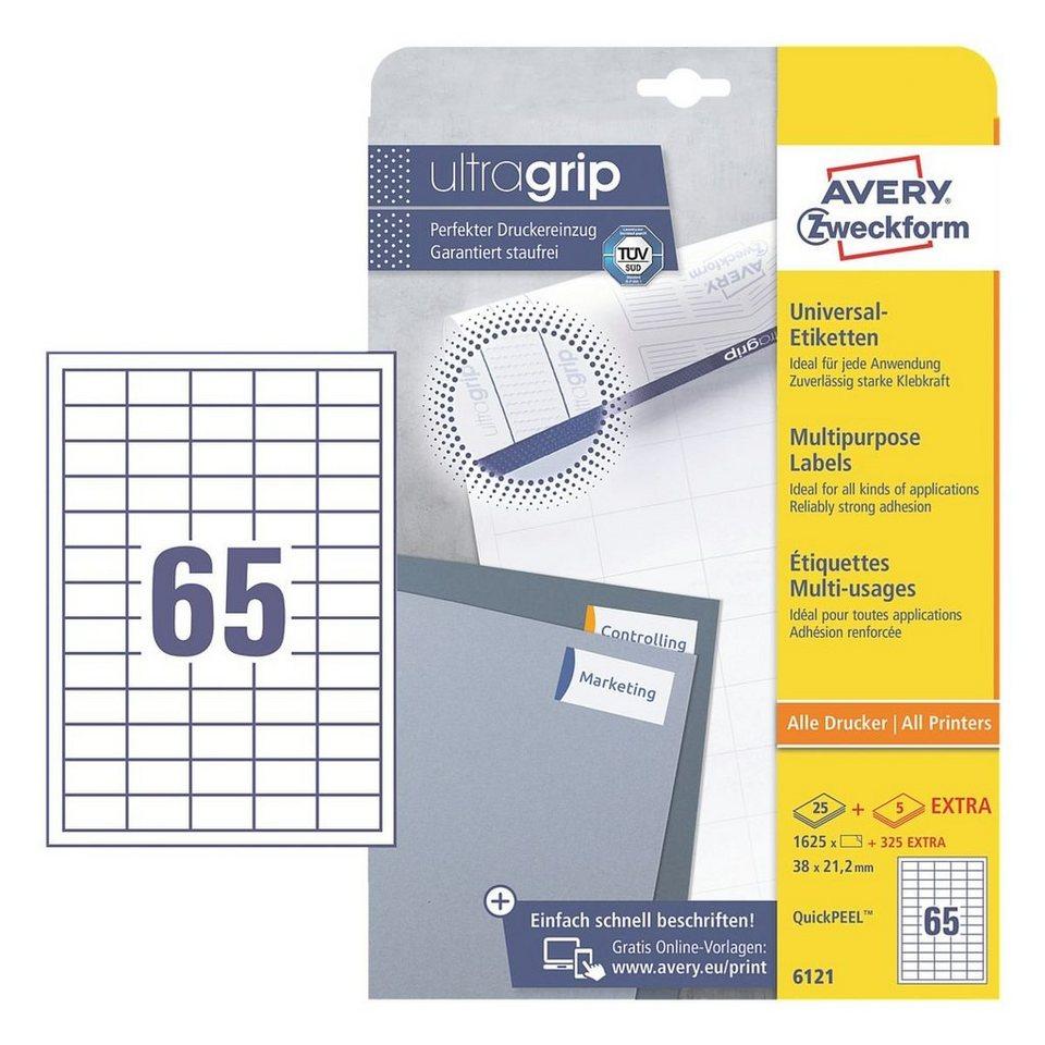 Avery Zweckform 1625er-Pack Universal Klebeetiketten »6121«