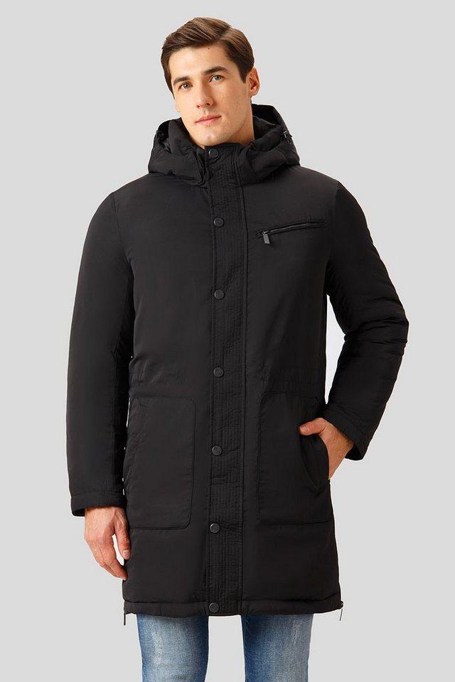 Herren Finn Flare Winterjacke mit geradem Schnitt schwarz | 06438157475176