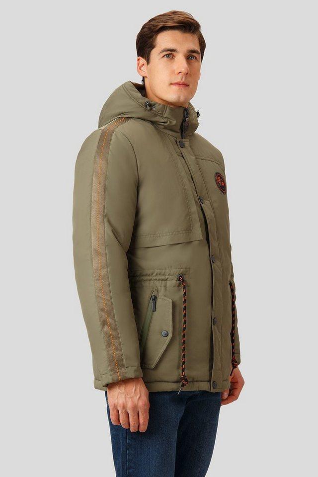 Herren Finn Flare Winterjacke mit verstellbarer Taillenweite grün | 06438157508249