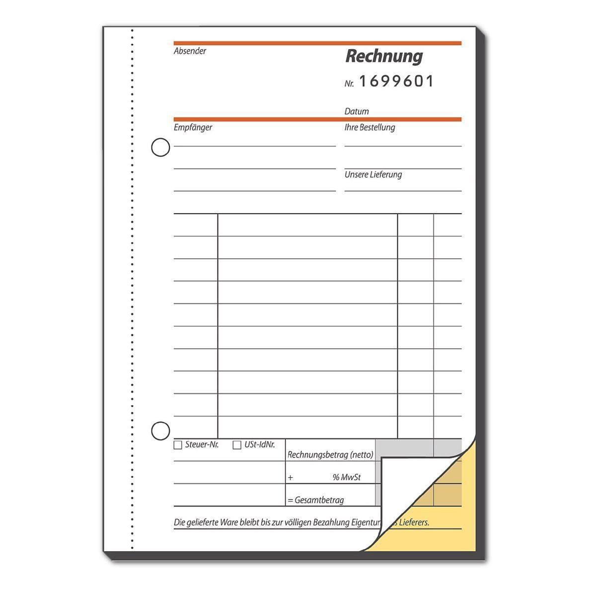 Sigel Formularbuch »Rechnung«