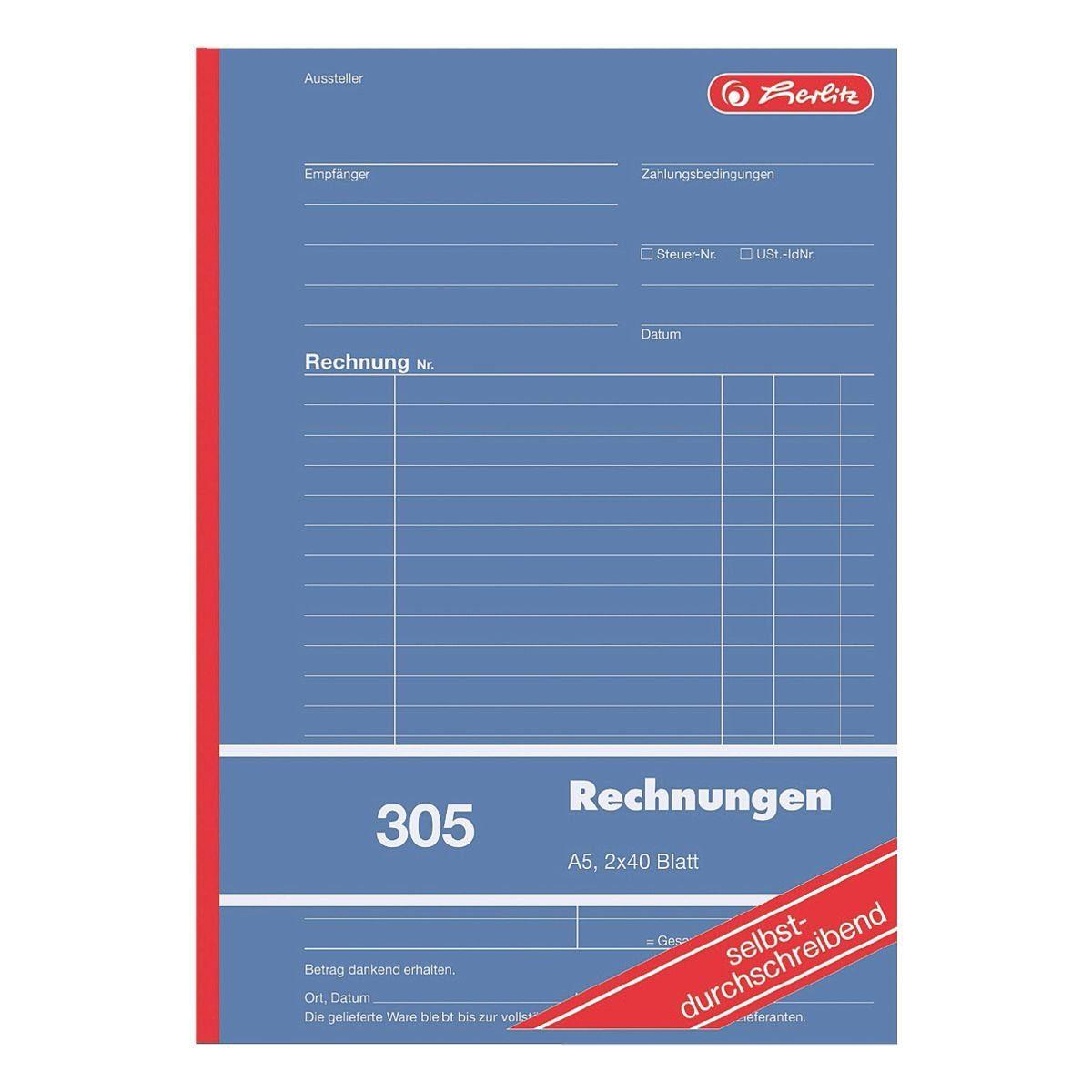 Herlitz Formularbuch »Rechnung«