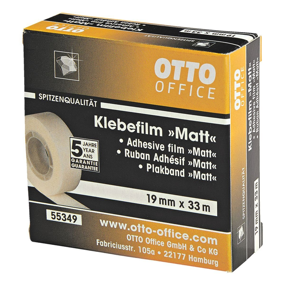 OTTO Office Premium Klebeband transparent, 19 mm/33 m (B/L) »Matt«