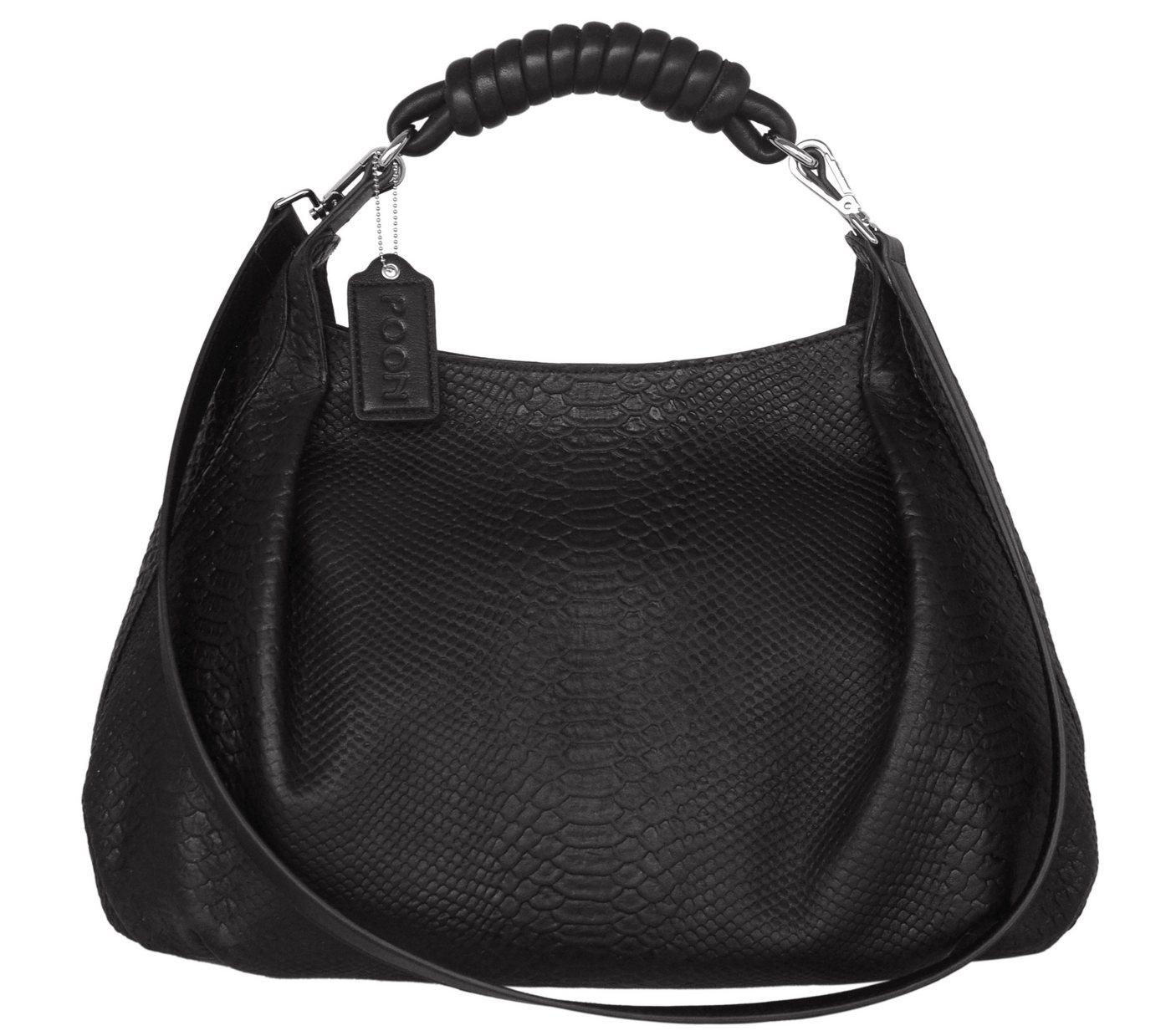 POON Switzerland Lederhandtasche in elegantem Design | Taschen > Handtaschen > Ledertaschen | Schwarz | Baumwolle | POON Switzerland