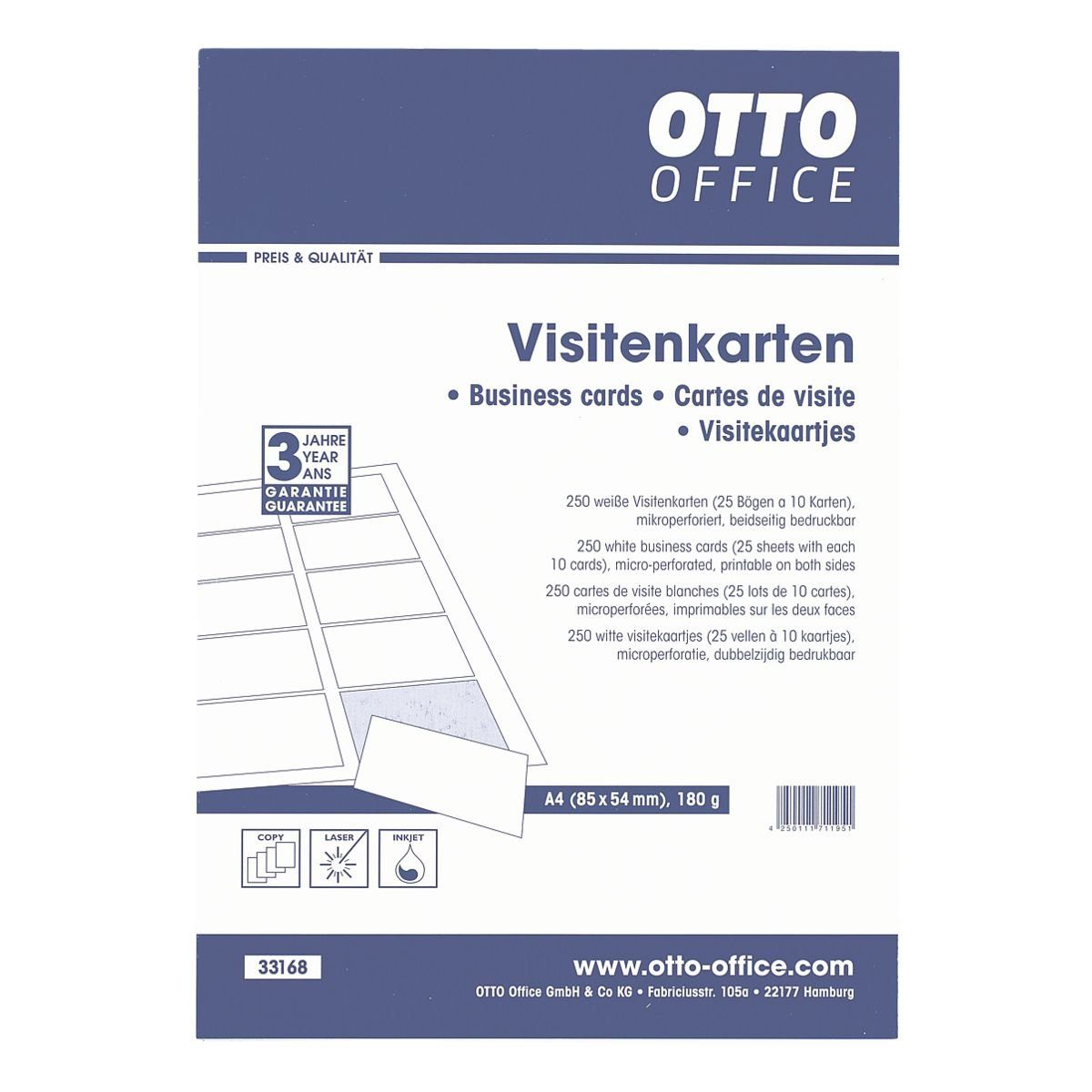 OTTO Office Visitenkarten