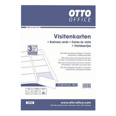otto office standard visitenkarten online kaufen otto. Black Bedroom Furniture Sets. Home Design Ideas