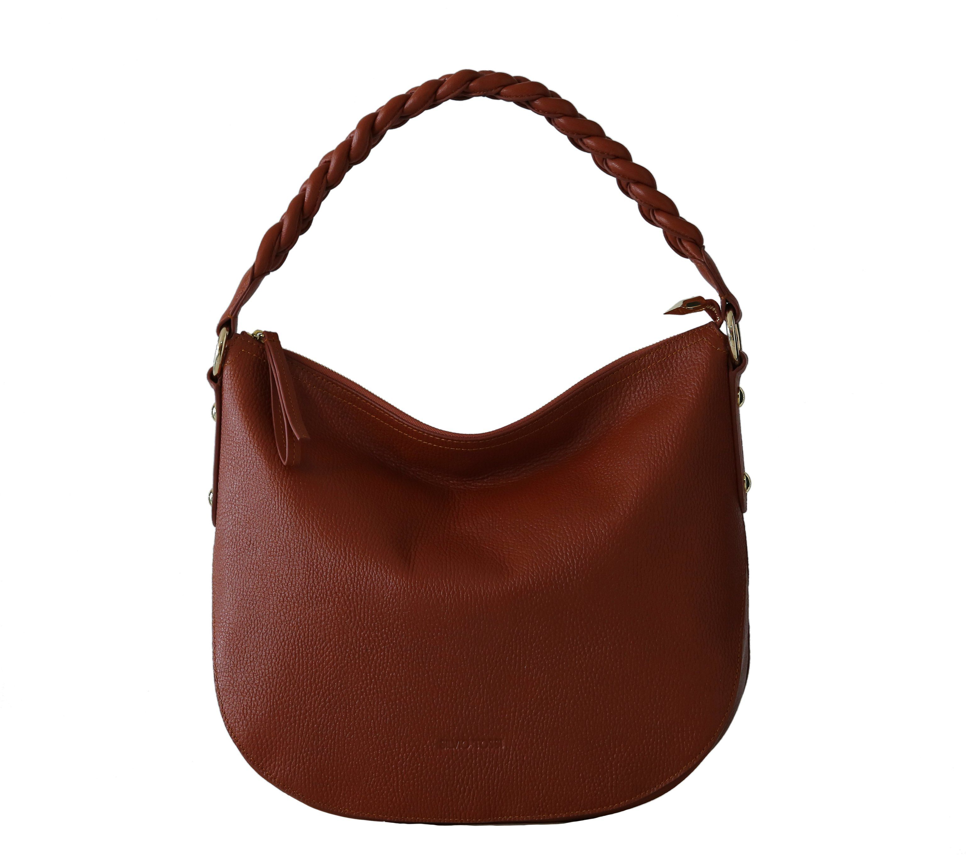 Silvio Tossi Lederhandtasche mit Reißverschluss