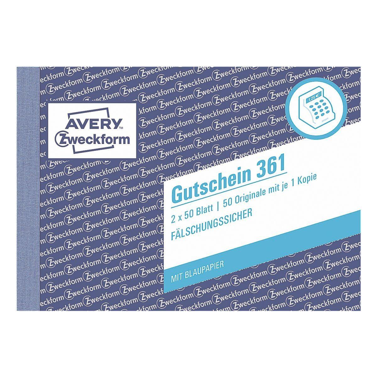Avery Zweckform Formularbuch »Gutschein«
