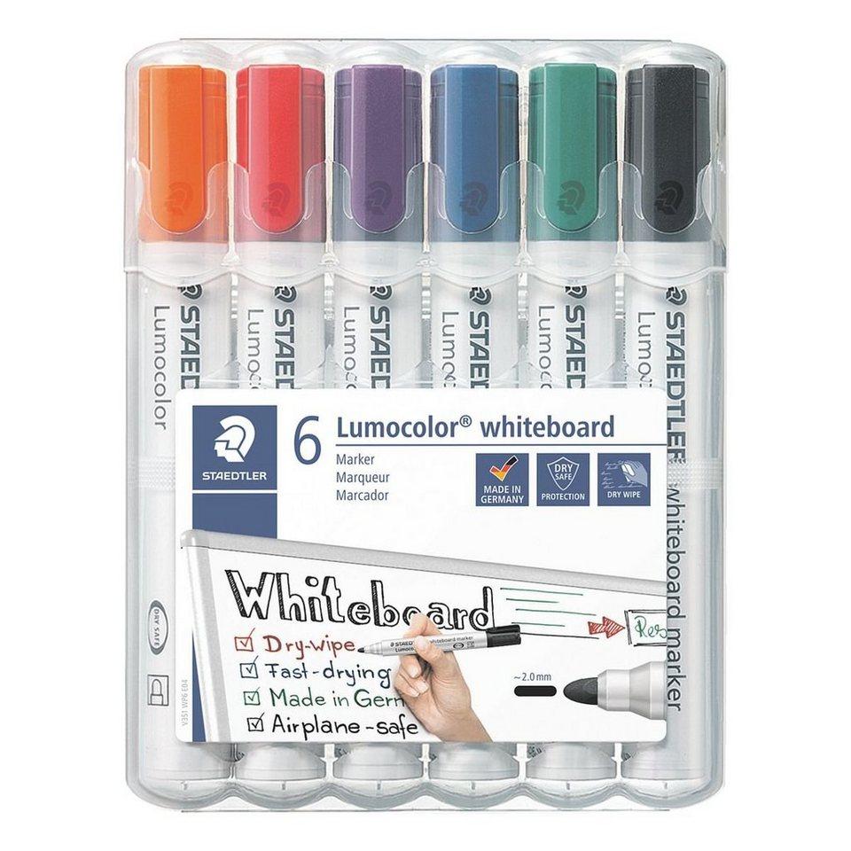 Staedtler 6er-Pack Whiteboard-Marker »Lumocolor 351«