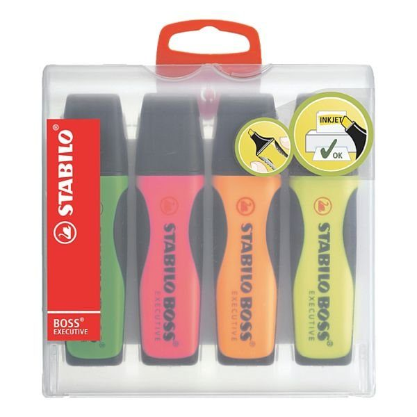 Stabilo 4er-Pack Textmarker »BOSS® Executive«