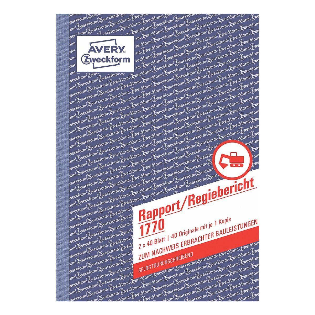 Avery Zweckform 1770 Rapport//Regiebericht 20