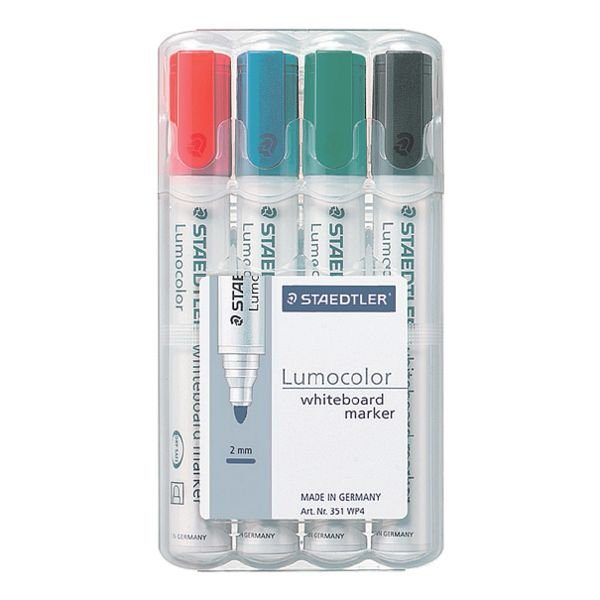 Staedtler 4er-Pack Whiteboard-Marker »Lumocolor 351«