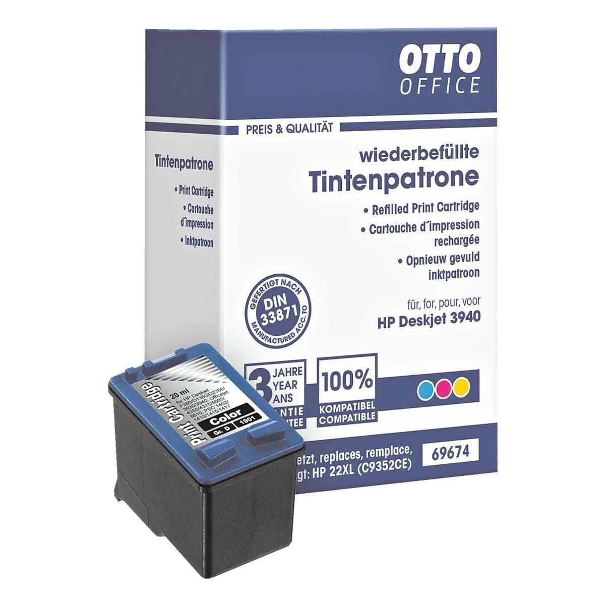 OTTO Office Standard Tintenpatrone ersetzt HP »C9352AE« Nr. 22