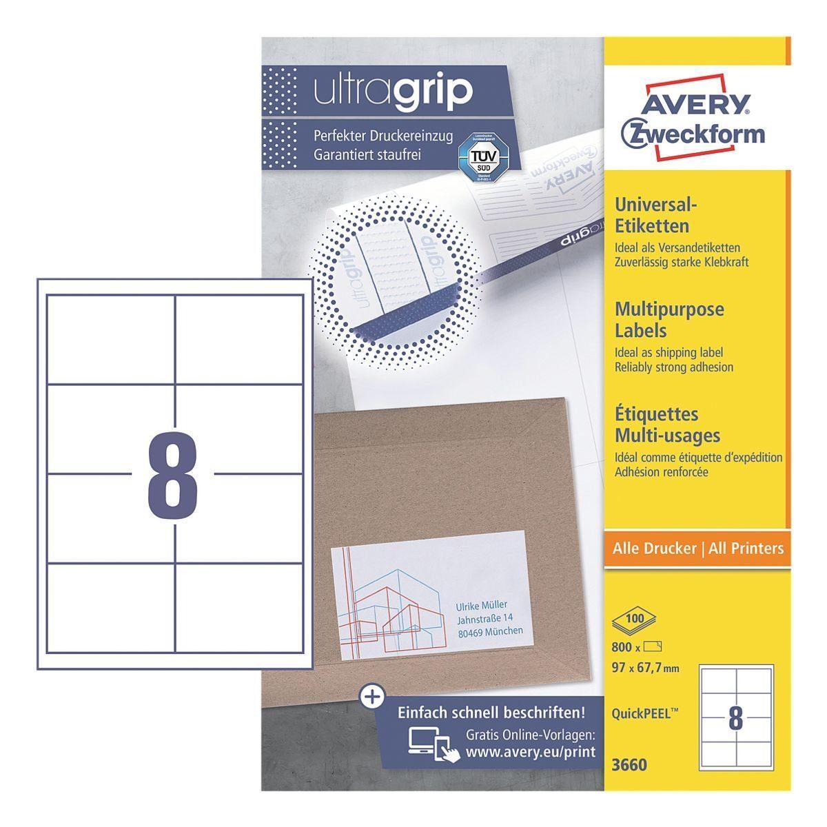 Avery Zweckform 800er-Pack Universal Klebeetiketten »3660«
