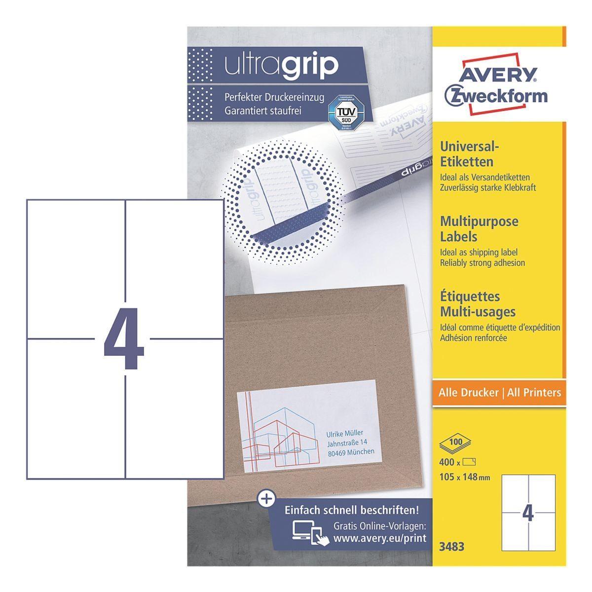 Avery Zweckform 400er-Pack Universal Klebeetiketten »3483«