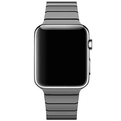 CoverKingz Uhrenarmband »Gliederarmband für Apple Watch Series 1/2/3/4/5/SE/6 Ersatz Band 42/44mm Schwarz«