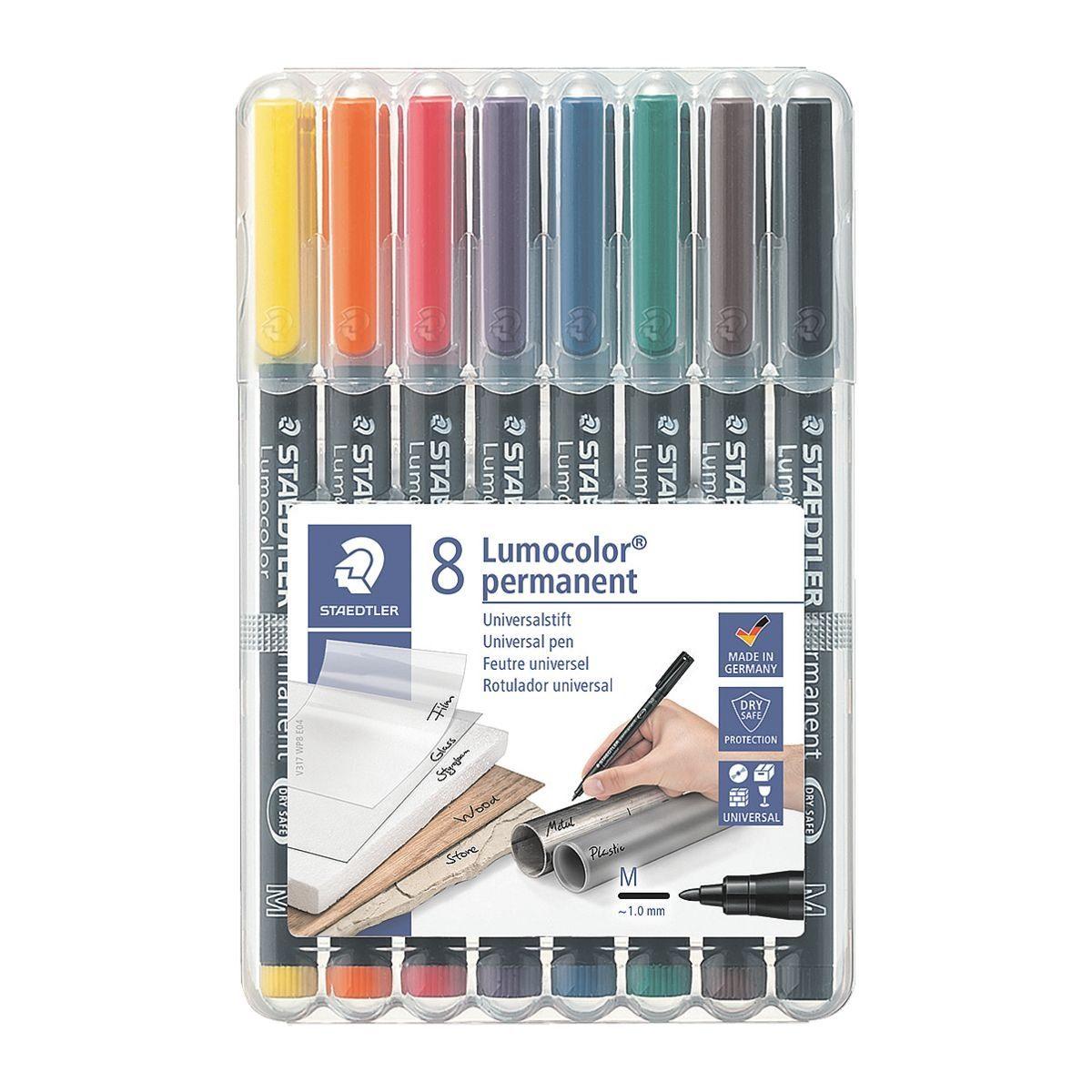 Staedtler 8er-Pack Universalstifte »Lumocolor permanent«