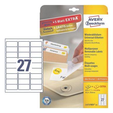 ZWECKFORMAVERY 810er-Pack Universal Klebeetiketten »L4737REV-25«