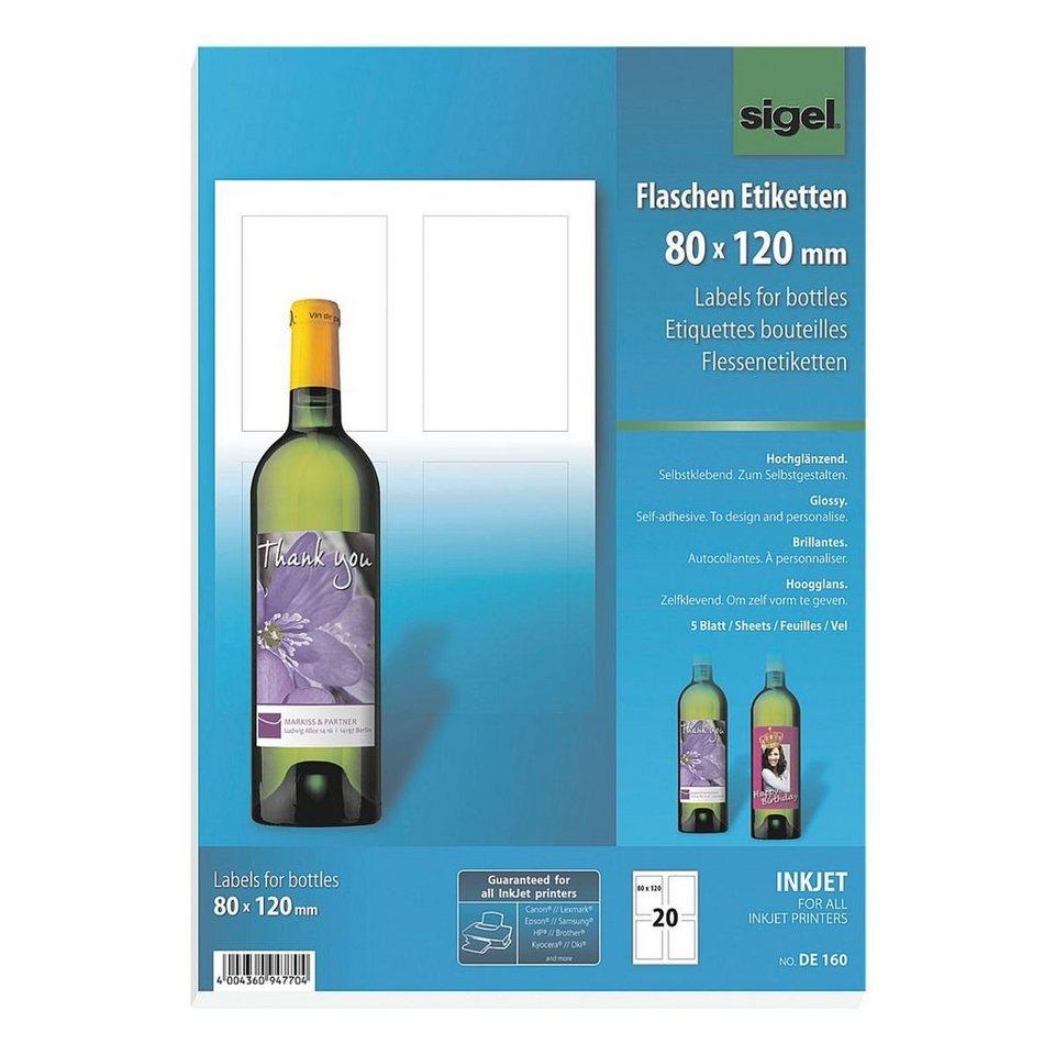 Sigel 20er-Pack Flaschen-Etiketten