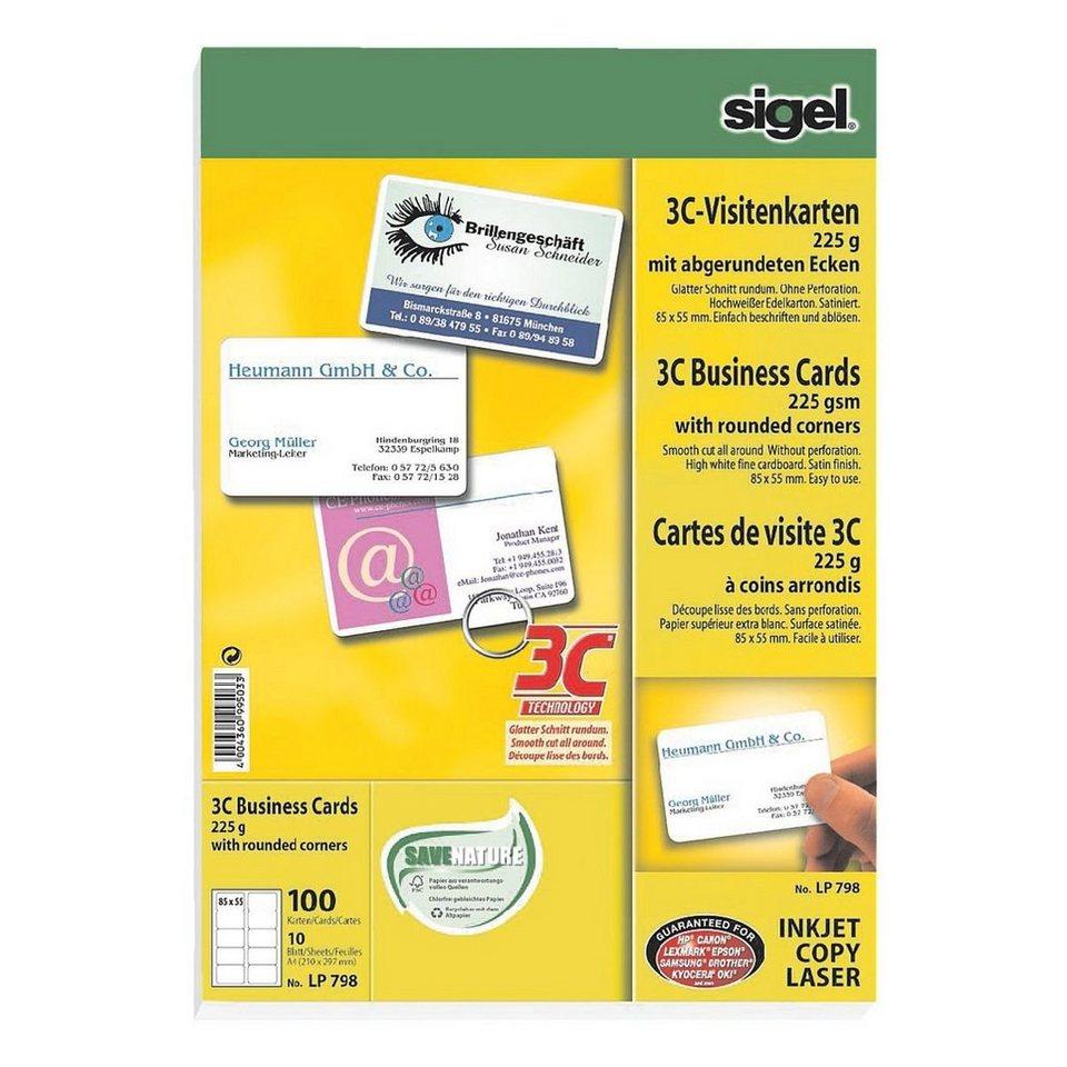 Sigel Visitenkarten Lp798 Beidseitig Bedruckbar Nein Online Kaufen Otto