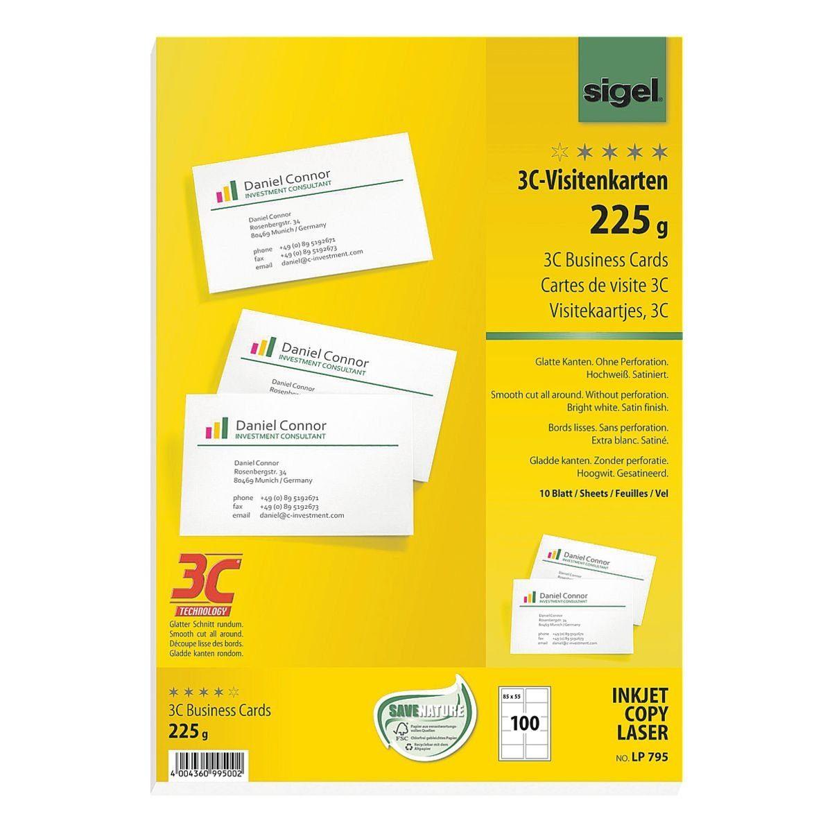 Sigel Visitenkarten LP795