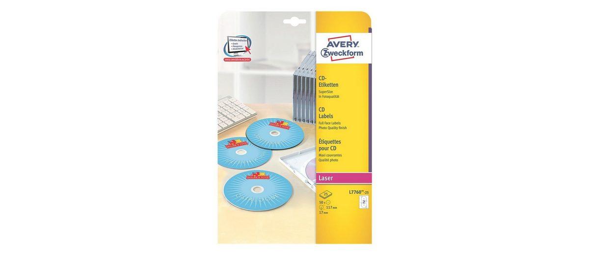 Avery Zweckform 50er-Pack CD-/DVD-Label »L7760-25«