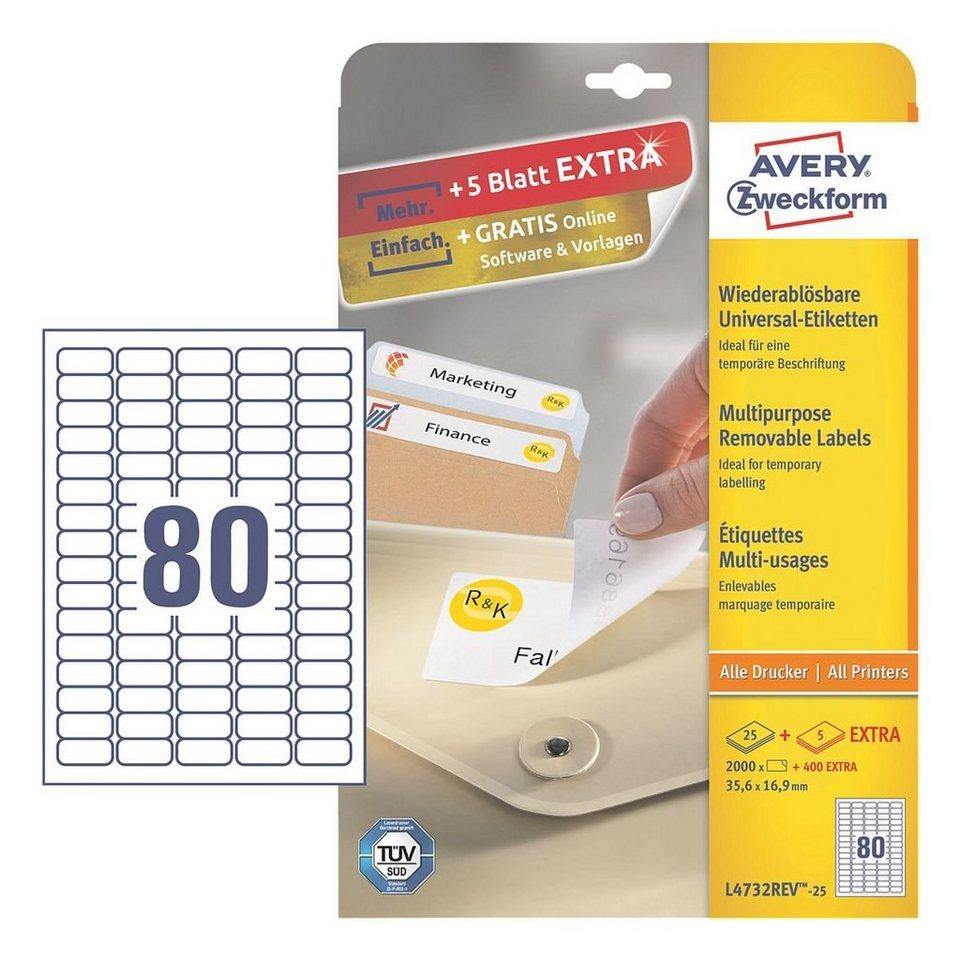 Avery Zweckform 2000er-Pack Universal Klebeetiketten »L4732REV-25« in 20913
