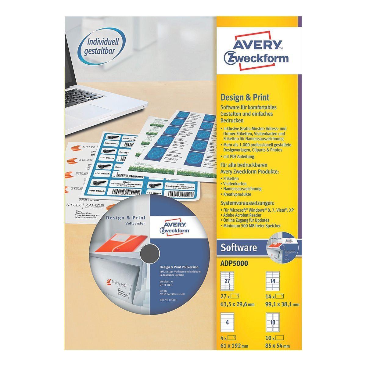 Avery Zweckform Software »Design & Print«