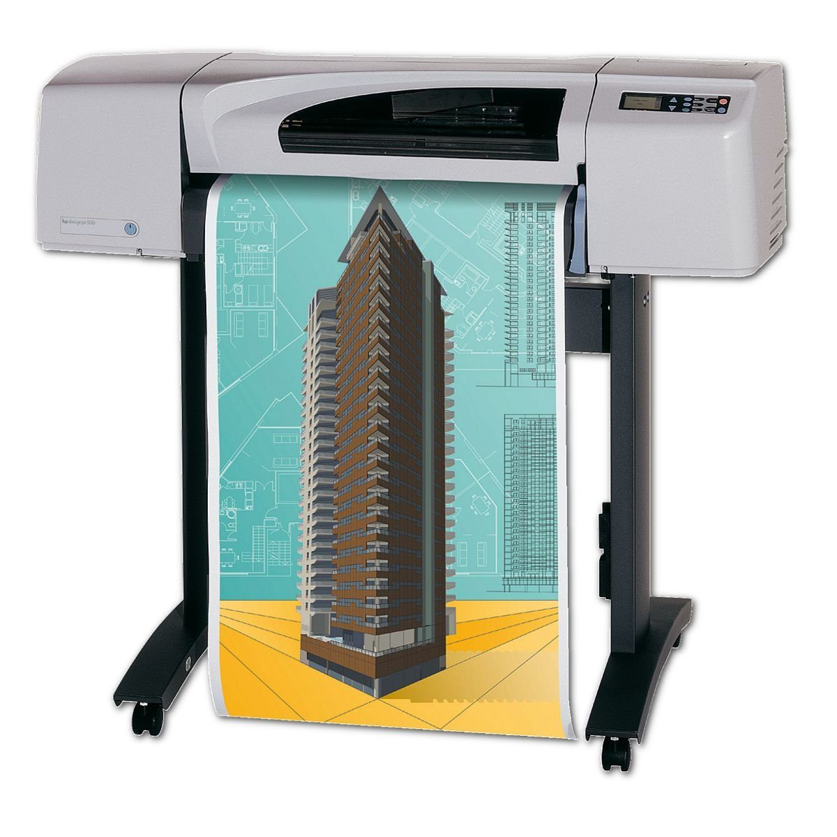 POWERJET Plotter-Papier 90 g/m² 610 mm x 90 m »CAD Premium matt«
