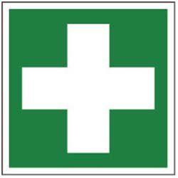 Rettungsweg-Etikett »Erste Hilfe«