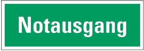 Rettungsweg-Etikett »Notausgang«