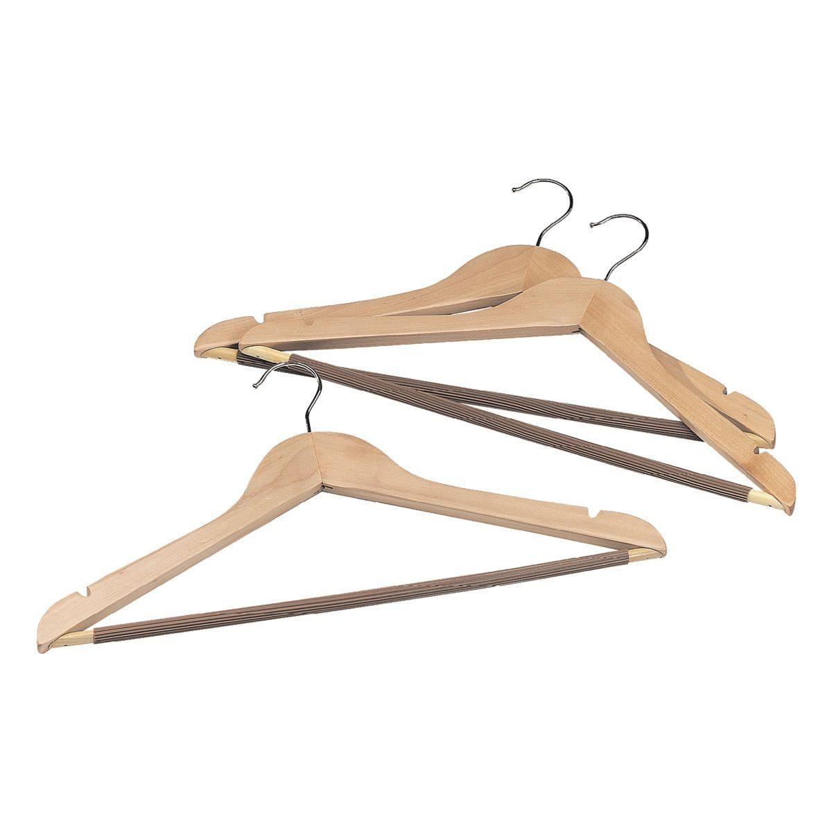 Kleiderbügel aus Holz im 3er-Set