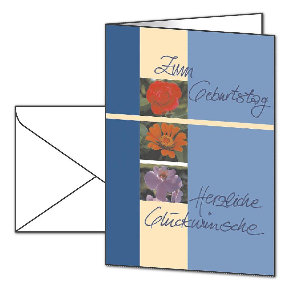 Sigel Geburtstagskarten mit Umschlägen DS610 »Trio«
