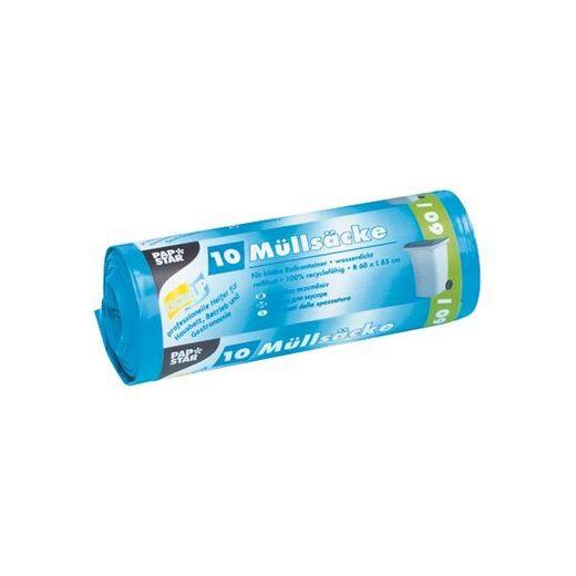 PAPSTAR 10 Schwerlast-Müllsäcke 60 L blau