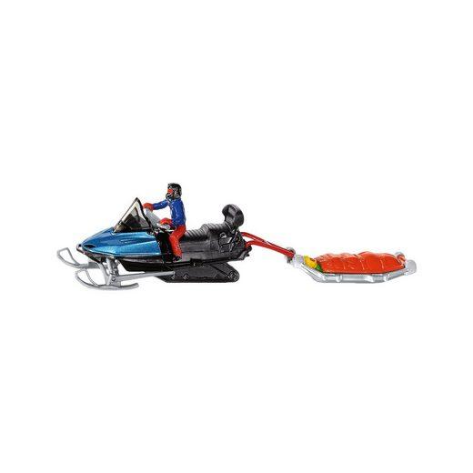 Siku Snowmobil mit Rettungsschlitten