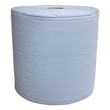 Papier-Putztuchrolle blau 3-lagig 38x36 cm (1x1000 Blatt)