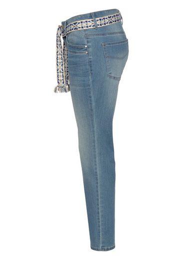 Gemustertem Tom Tailor Mit fit jeans Gürtel Comfort aw67qX