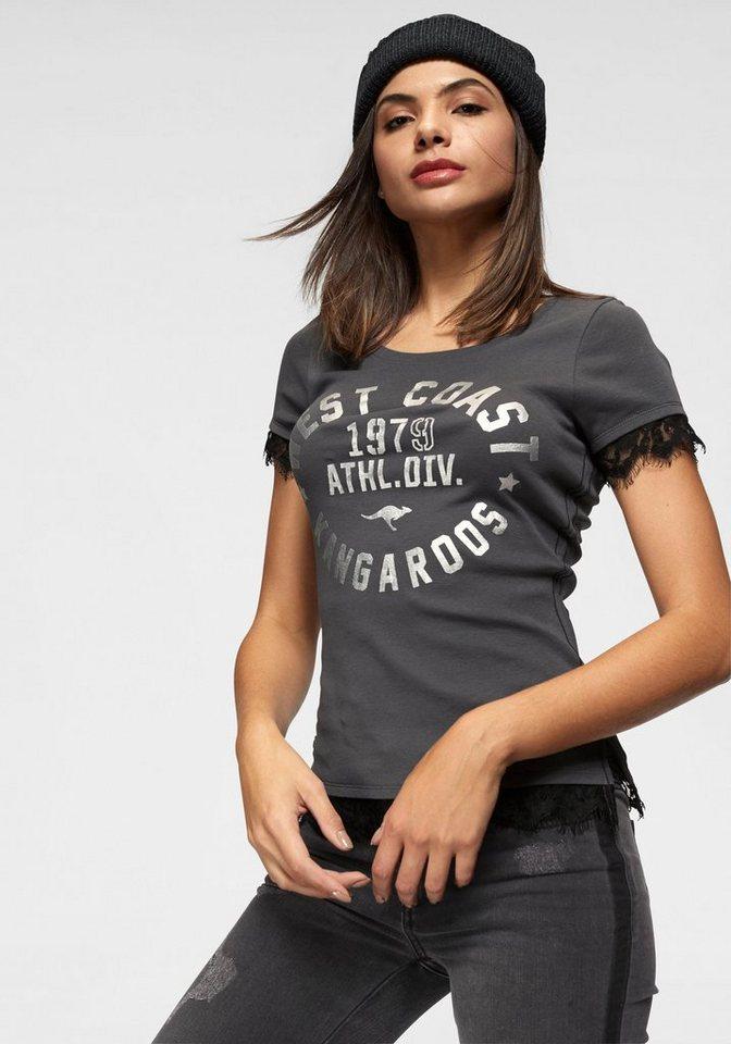 KangaROOS T-Shirt mit Spitzen-Borte an den Säumen   OTTO 7a6bc1725b