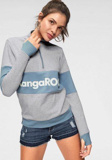 KangaROOS Sweatshirt mit Markenlogo-Aufdruck