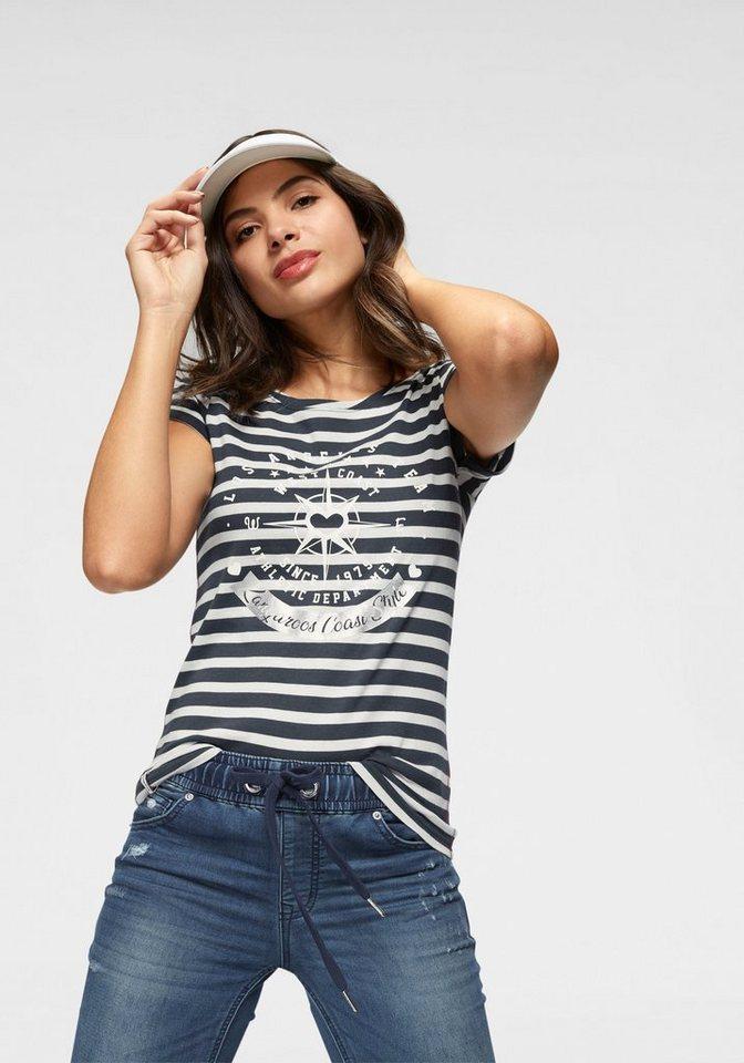 KangaROOS T-Shirt mit großem Metallic-Print vorne   OTTO 23b83e91ba