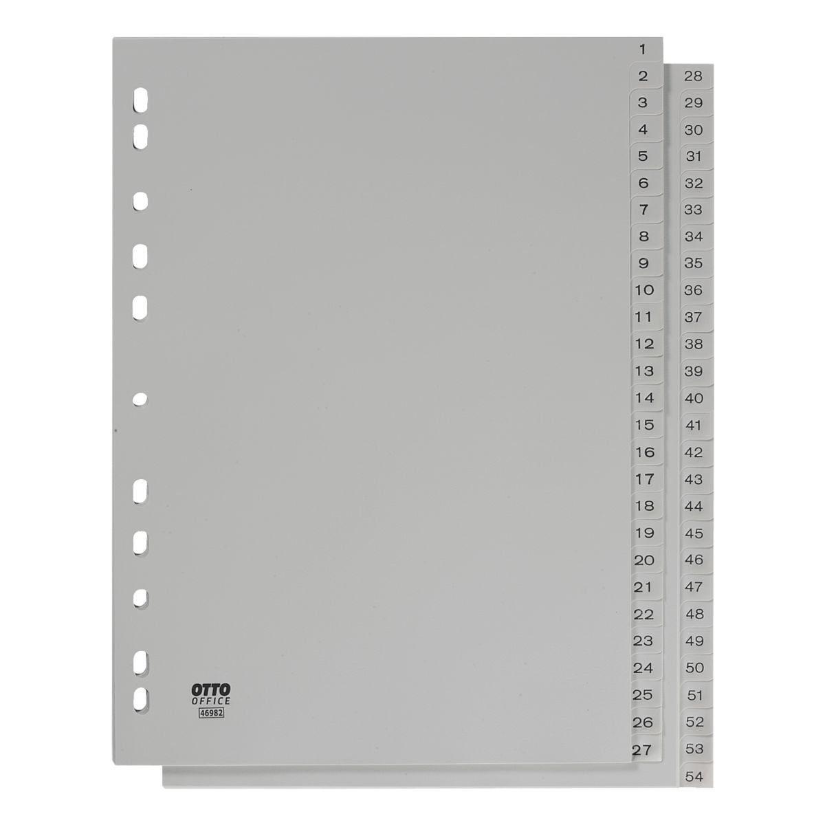 OTTO Office Standard Kunststoffregister 1-54 A4